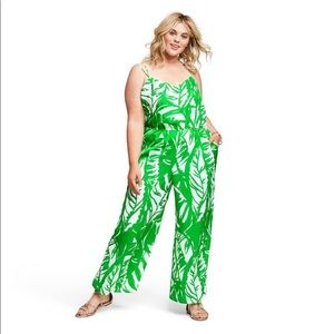 💚 Lilly Pulitzer Green/White jumpsuit 1X Target